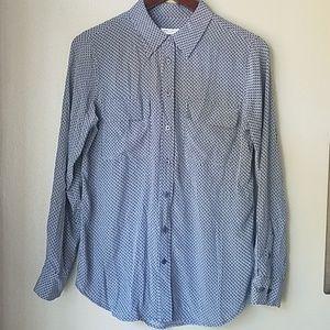 Equipment femme signature silk shirt size S
